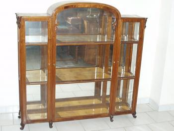 Vitrine - walnut wood - 1870
