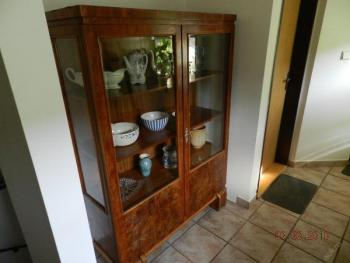 Display Cabinet - wood, veneer - 1870