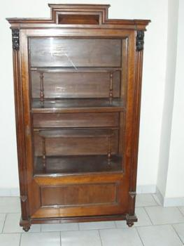 Display Cabinet - walnut wood - 1880