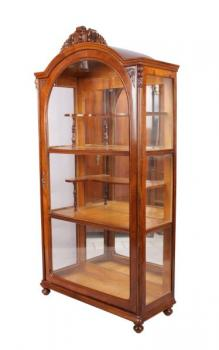 Display Cabinet - walnut wood - 1890