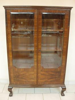 Display Cabinet - walnut wood - 1930